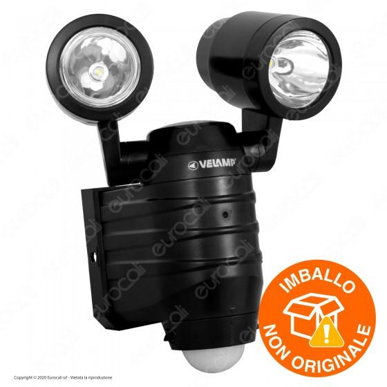 Velamp IS352 Faro LED 2x5W a Batteria con Sensore di Movimento - mod. IS352