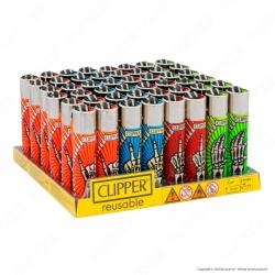 Clipper Large Fantasia Skeleton Fingers - Box da 48 Accendini