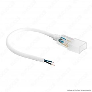 V-Tac Cavo di Alimentazione con Connettore per LED Neon StripLight