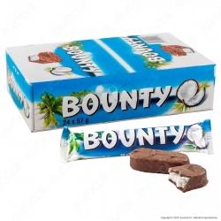 Bounty Snack al Cocco Ricoperto di Cioccolato al Latte - Box con 24 Barrette da 57g
