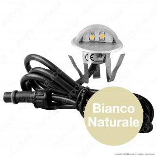 Life Punto Luce LED 1W Segnapasso da Interramento in Zinco - mod. 39.9PL0136C / 39.9PL0136N