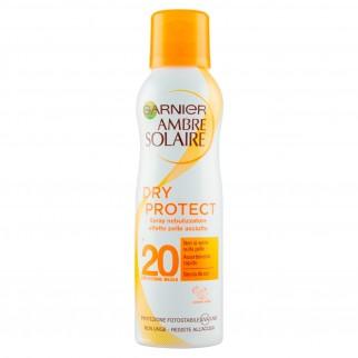 Garnier Ambre Solaire Dry Protect SPF 20 Spray Nebulizzatore Protezione Media ad Assorbimento Rapido - Flacone da 200ml
