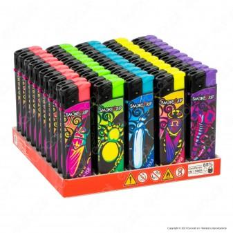 SmokeTrip Accendini Elettronici Ricaricabili Fantasia Bad Animals - Box da 50 Accendini