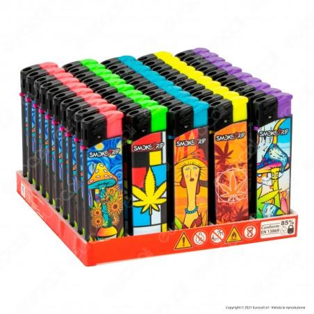 SmokeTrip Accendini Elettronici Ricaricabili Fantasia Painters - Box da 50 Accendini