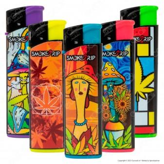 SmokeTrip Accendini Elettronici Ricaricabili Fantasia Painters - 5 Accendini