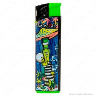 SmokeTrip Accendini Elettronici Ricaricabili Fantasia Prisoned Mushrooms - 5 Accendini