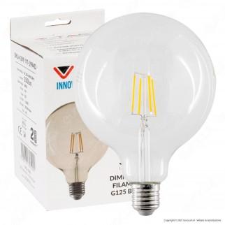V-Tac VT-1994D Lampadina LED E27 4W Globo G125 Filamento Dimmerabile - SKU 4399