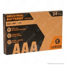 Uniross Pile Alcaline Industrial AAA / LR03 / Ministilo / 1,5V - Box da 24 Batterie