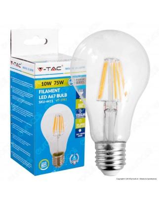 V-Tac VT-1981 Lampadina LED E27 10W Bulb A67 Filamento