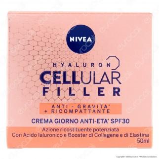 Nivea Hyaluron Cellular Filler - Crema Giorno Anti Età - SPF30 - Confezione da 50 ml