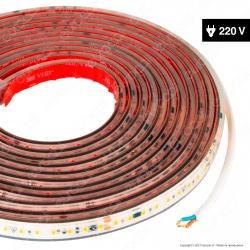 LEDCO Striscia LED Monocolore 120 LED/m 220V CRI≥90 16W/m Bobina 5 Metri IP65 - mod. SLP220LBN65