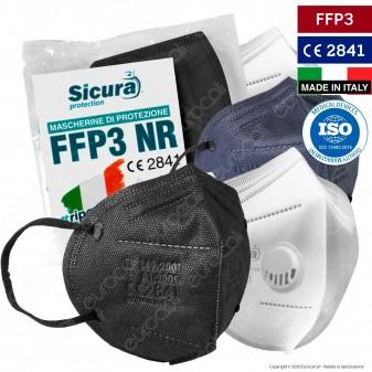 Sicura Protection Mascherina Filtrante Monouso in TNT Vari Colori Certificata FFP3 a Scelta