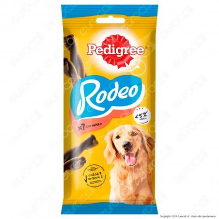 Pedigree Rodeo Snack Masticabile per Cani al Gusto Manzo - Bustina da 7 Stick