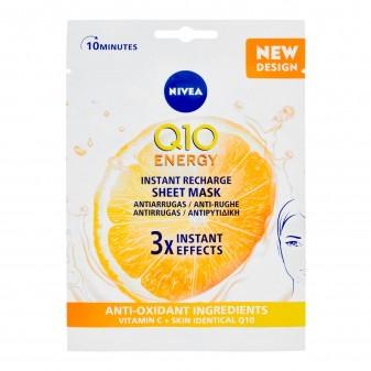 Nivea Q10 Energy Anti-Rughe Energizzante Maschera in Tessuto con Vitamina C Monouso 10 Minuti