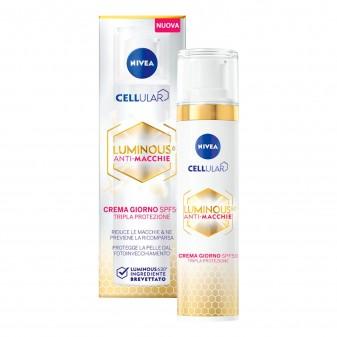 Nivea Cellular Luminous 630 Crema Giorno SPF 50 Anti Macchie - Flacone da 40 ml
