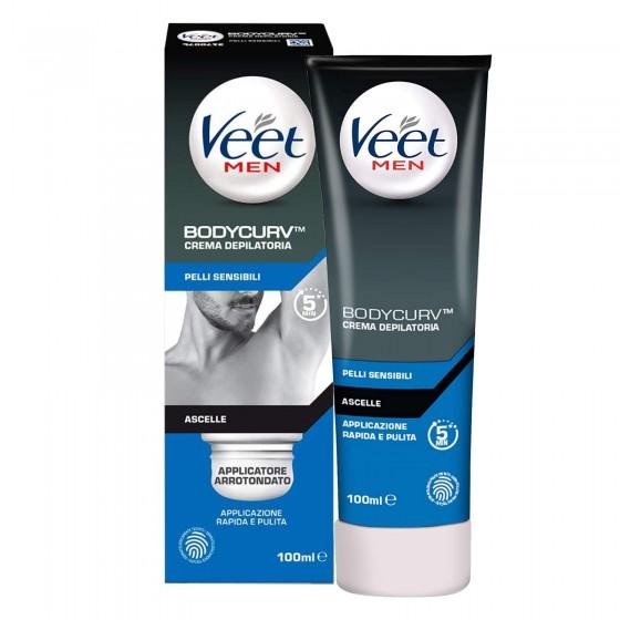 Veet For Men Crema Depilatoria Ascelle per Pelli Sensibili - Flacone da 100ml