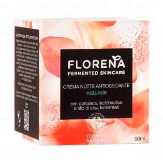 Florena Fermented Skincare Crema Notte Antiossidante Naturale con Portulaca e Lactobacillus - Barattolo da 50 ml