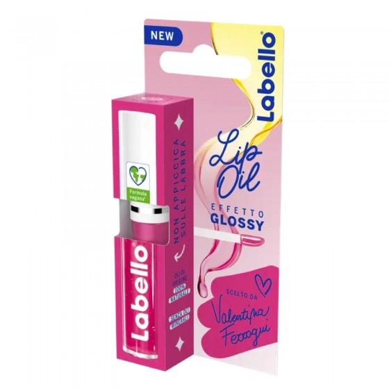 Labello Lip Oil Effetto Glossy Balsamo Labbra Colore Pink Rock