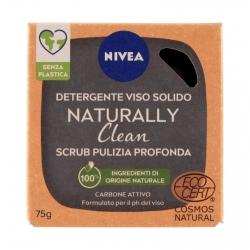 Nivea Naturally Clean Saponetta Scrub Detergente Viso Pulizia Profonda con Carbone Attivo