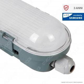 V-Tac VT-150048 Tubo LED Plafoniera M-Series 48W Lampadina 150cm Impermeabile IP65 - SKU 20201 / 20200