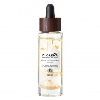 Florena Fermented Skincare Olio Elisir Rigenerante con Elicriso Bianco e Olio di Argan - Flacone da 30 ml