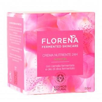 Florena Fermented Skincare Crema Nutriente 24H Naturale - Barattolo da 50 ml
