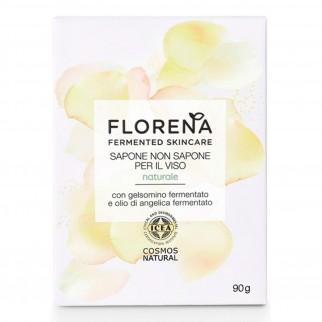 Florena Fermented Skincare Sapone non Sapone per il Viso - Detergente Solido 90g