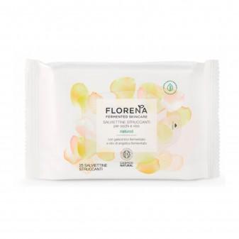 Florena Fermented Skincare Salviettine Struccanti Naturali - Confezione da 25 Salviette