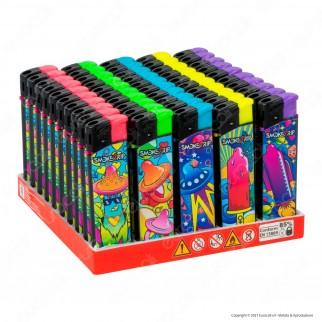 SmokeTrip Accendini Elettronici Ricaricabili Fantasia Sexytrip - Box da 50 Accendini