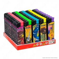 SmokeTrip Accendini Elettronici Ricaricabili Fantasia Far West - Box da 50 Accendini