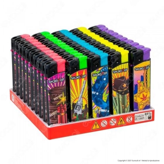 SmokeTrip Accendini Elettronici Ricaricabili Fantasia Farwest - Box da 50 Accendini