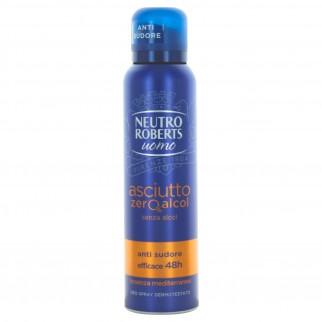 Neutro Roberts Deodorante Spray Asciutto Uomo - Flacone da 150ml