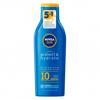 Nivea Sun Latte Solare Protect & Hydrate Protezione Bassa SPF 10 - Flacone da 200 ml