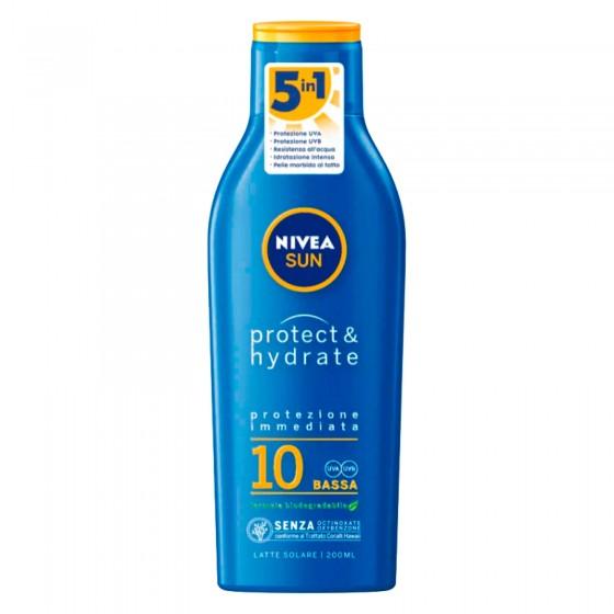 Nivea Sun Latte Solare Protect & Hydrate SPF 10 - Flacone da 200 ml