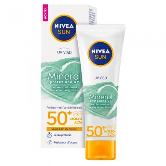 Nivea Sun Mineral Protezione UV Crema Viso SPF 50+ - Flacone da 50 ml