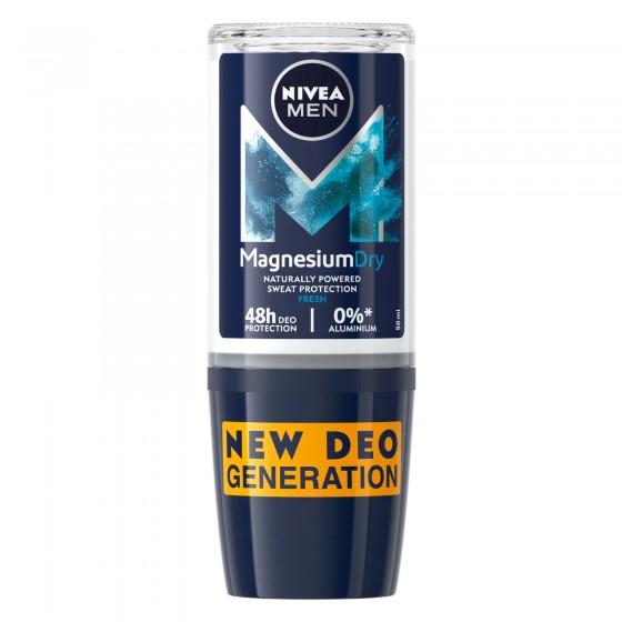 Nivea Men Deodorante Roll-On Magnesium Dry resh - Flacone da 50 ml