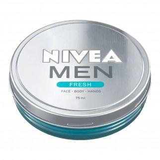 Nivea Men Fresh Crema Viso Mani e Corpo - Barattolo da 75 ml
