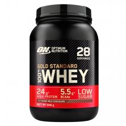 Optimum Nutrition Gold Standard 100% Whey Proteine Isolate in Polvere con Aminoacidi Cioccolato al Latte - Barattolo da 896g