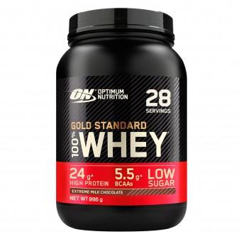 Optimum Nutrition Gold Standard 100% Whey Proteine e Aminoacidi in Polvere Gusto Cioccolata al Latte - Barattolo da 28 Porzioni