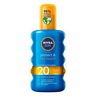 Nivea Sun Spray Solare Protect & Dry Touch SPF 20 - Flacone da 200 ml