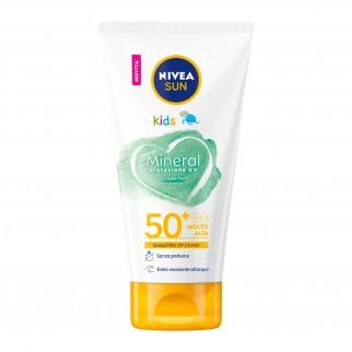 Nivea Sun Kids Crema Solare Mineral Protezione UV SPF 50+ - Flacone da 150 ml