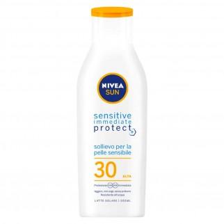 Nivea Sun Latte Solare Sensitive Immediate Protect SPF 30 - Flacone da 200 ml