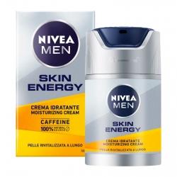 Nivea Men Skin Energy Crema Idratante Rivitalizzante con Caffeina - Flacone da 50ml