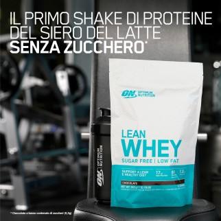 Optimum Nutrition Lean Whey Proteine Vitamine e Minerali in Polvere Senza Zucchero Gusto Cioccolato - Busta da 772g