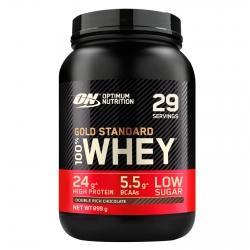 Optimum Nutrition Gold Standard 100% Whey Proteine Isolate in Polvere con Aminoacidi Doppio Cioccolato - Barattolo da 899g