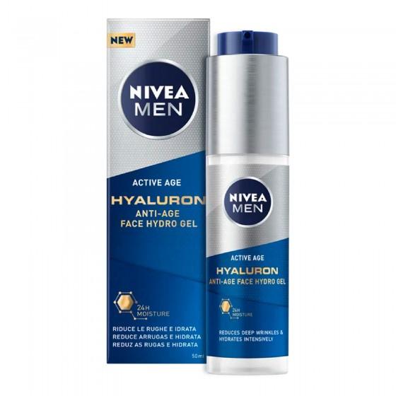 Nivea Men Active Age Hyaluron Gel Viso Idratante - Flacone da 50 ml