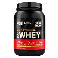 Optimum Nutrition Gold Standard 100% Whey Proteine Isolate Polvere con Aminoacidi Cioccolato Burro Arachidi - Barattolo da 896g