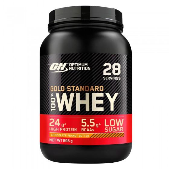Optimum Nutrition Gold Standard 100% Whey Proteine Aminoacidi in Polvere Gusto Cioccolato Burro di Arachidi - Barattolo da 896g