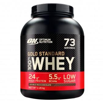 Optimum Nutrition Gold Standard 100% Whey Proteine Isolate in Polvere con Aminoacidi Doppio Cioccolato - Barattolo da 2,26kg