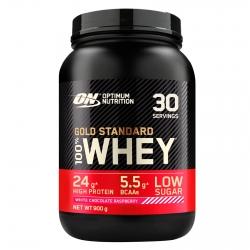 Optimum Nutrition Gold Standard 100% Whey Proteine Isolate Polvere con Aminoacidi Cioccolato Bianco Lampone - Barattolo da 900g